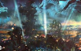 Картинка город, арт, online, art, guild wars 2, mmorpg, мморпг