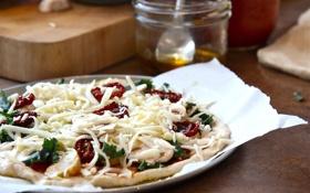 Картинка еда, сыр, тарелка, пицца, томат, помидоры, pizza