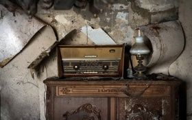 Обои фон, стена, радио