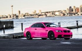Обои Pink, BMW, Розовая, Тюнинг, Набережная, БМВ, E92