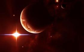 Обои звезды, планеты, бесконечность