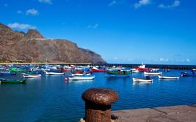 Обои фото, лодки, Испания, Санта-Крус-де-Тенерифе, канарские острова