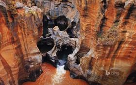 Картинка камни, ручей, скалы, поток, колодец, вода