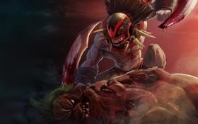 Картинка Кровь, Bloodseeker, Dota 2, Pudge