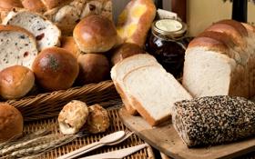 Картинка хлеб, разный, булочки, ассортимент