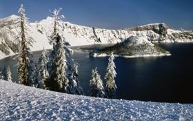 Обои зима, вода, снег, пейзажи, зимние обои