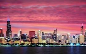 Обои city, landscape, nature, chicago, travel