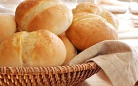 Обои хлеб, корзина, белый, круглый