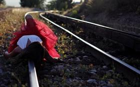 Картинка девушка, настроение, железная дорога