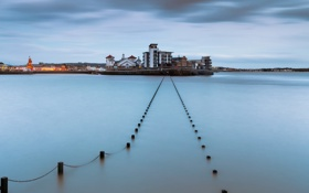 Картинка bridge, Long Exposure, Weston Supermare