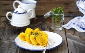 Обои десерт, фрукты, пирог, Julia Khusainova, абрикосы