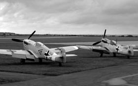 Обои чёрно-белая, истребитель-моноплан, Hispano, испанский, фотообоина, HA-1109/1112 Buchon