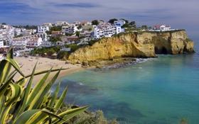 Обои побережье, здания, Cape Verde, Praia