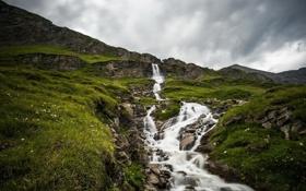 Картинка пейзаж, природа, река, гора
