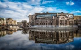 Картинка Sweden, Stockholm, Swedish Parliament House