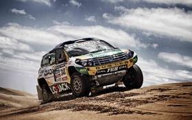 Обои песок, Песок, Облака, Авто, Спорт, Гонка, Renault