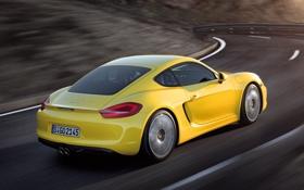 Картинка купе, Cayman S, Порше, Кайман С, Porsche, вид сзади
