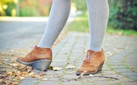 Обои ноги, обувь, ботинки, колготки
