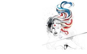 Обои девушка, комикс, персонаж, wonder woman, dc comics, зарисовка, супер героиня