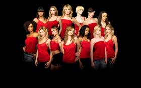 Картинка красный, черный, Девушки