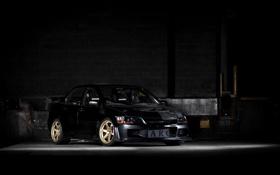 Обои чёрный, тюнинг, Mitsubishi, Lancer, лансер, мицубиси, эволюшн