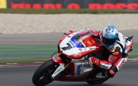 Обои Поворот, Гонка, Мотоцикл, Ducati, WSBK, Тарсса, Карлос Чека
