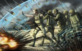 Обои солдаты, пули, щит, war, psy ops