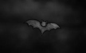 Обои темный фон, птица, крылья, летучая мышь, bat, рожица