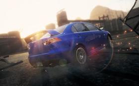 Обои гонка, погоня, занос, need for speed most wanted 2, Mitsubishi Lancer Evolution X
