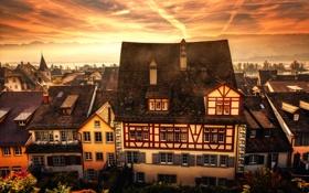 Обои обработка, Коммуна в Швейцарии, Rapperswil-Jona, Рапперсвиль-Йона, Old Town View