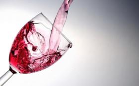 Обои бокал, вино, макро