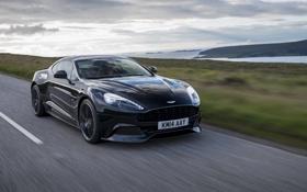 Обои Aston Martin, астон мартин, Vanquish, ванквиш, 2014, Carbon Black