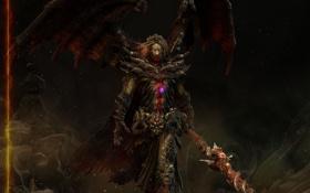 Картинка оружие, камень, крылья, монстр, кулон, амулет, dragon age