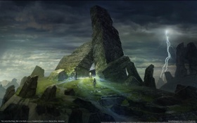 Картинка игры, развалины, Властелин Колец, The Lord of the Rings, дольмены, Война Севера, War in the ...