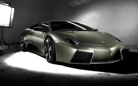 Картинка фон, Lamborghini, reventon, салатовая