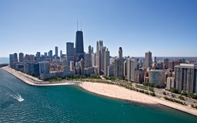 Обои Chicago, город, city, USA, Illinois
