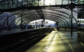 Обои метро, города, рельсы, станция, поезда