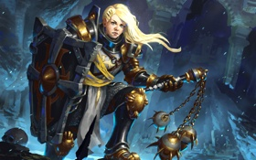 Картинка diablo 3, female, crusader, reaper of souls