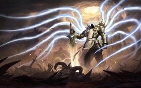 Обои ангел, меч, diablo, рпг, Tyrael, Archangel of Justice