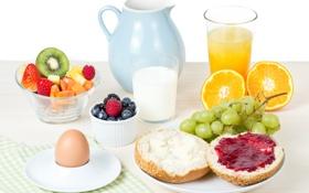 Обои фрукты, цитрусы, fruit, Полезный, tasty Breakfast, Useful, вкусный завтрак