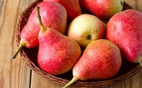 Обои макро, плоды, фрукты, груши