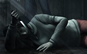 Картинка Тихий Холм, Silent Hill 2, Нож, Зеркало, Angela Orosco, Анджела Ороско