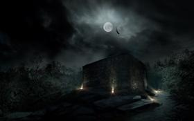 Картинка ночь, парк, луна, апокалипсис, нью йорк, Alone in the Dark