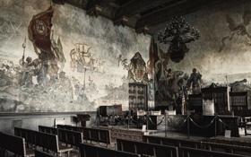 Обои комната, стена, картина, разное, сидения