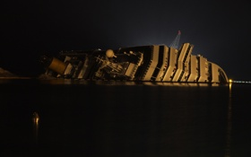Картинка крушение, судно, Costa Concordia, круизное, Коста Конкордия
