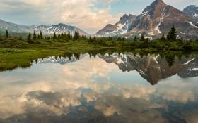 Картинка горы, отражение, Jeff Wallace