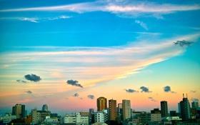 Обои небо, облака, дома