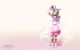 Обои девушка, розовый, аниме, aion