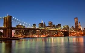 Обои Нью-Йорк, США, Бруклинский мост, Brooklyn Bridge