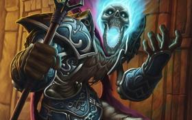 Обои магия, маг, посох, undead, wow, нежить, world of warcraft